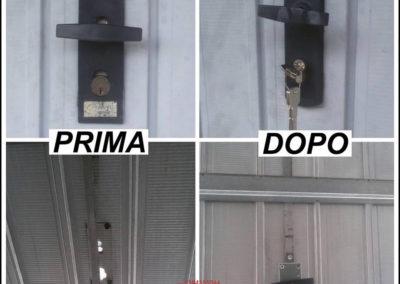 APERTURA PORTA garage, cambio serratura