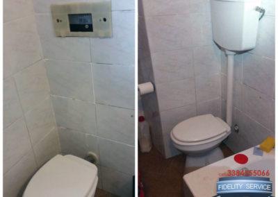 cambio vaschetta wc
