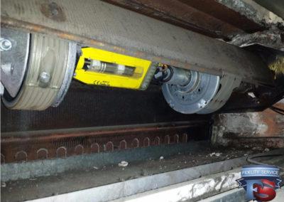 controllo molle , manutenzione ordinaria serranda
