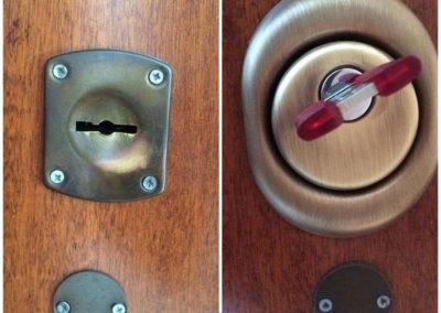 conversione serratura a doppia mappa a cilindroo europeo 5