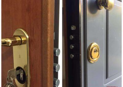 conversione serratura da doppia mappa a cilindro europeo.9