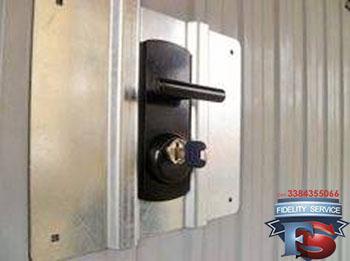 installazione placca antiscasso porta garage+defender