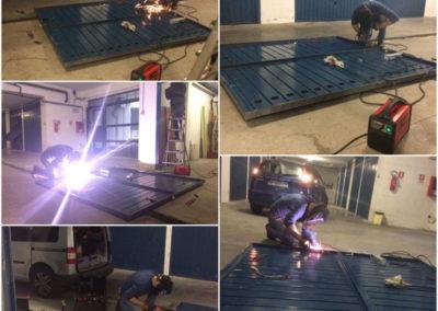 saldatura e riparazione porta garage